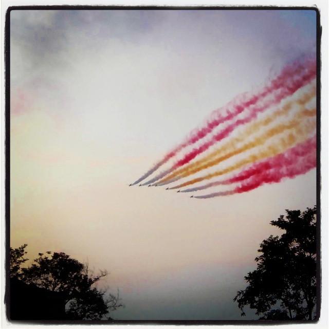 Patrulla Águila en la inauguración del Mundial de Vela. #santander #soymundial