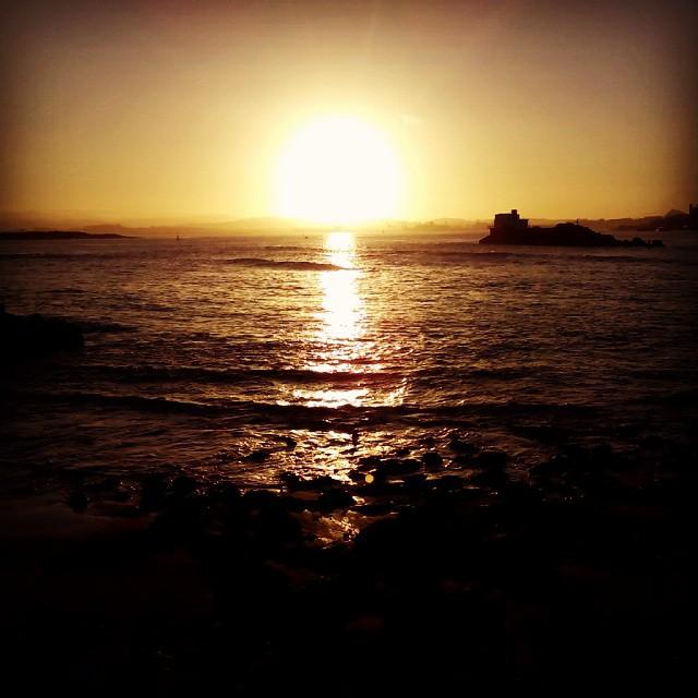 Atardecer en la bahía de #Santander